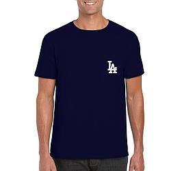 Мужская футболка Los Angeles, мужская футболка Лос Анджелес, спортивная, брендовая, синяя, копия