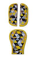 Накладки на ремни безопасности DavLu Мелкие треугольники (N-050)