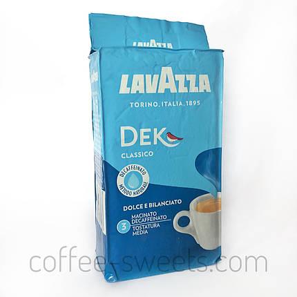 Кофе молотый Lavazza Dek Classico 250g БЕЗ КОФЕИНА, фото 2