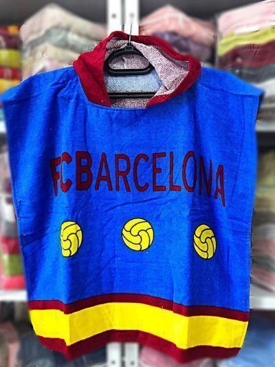"""Детское пляжное полотенце - пончо """"FC Barcelona"""""""