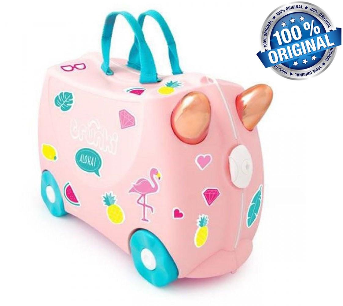 Чемодан Trunki на 4 колесах Flossi Flamingo (18 л. + наклейки в подарок)