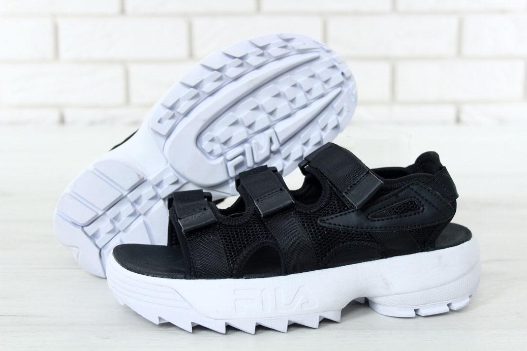 Мужские сандалии Fila (черные) - Унисекс