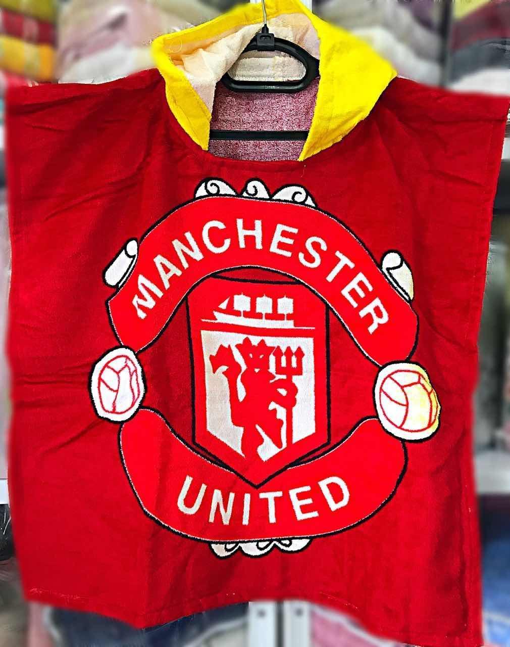 "Дитячий пляжний рушник - пончо ""Манчестер"""