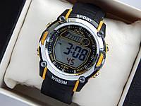 Водонепроникні спортивні наручний годинник iTaiTek IT-813 - чорні з жовтим, фото 1