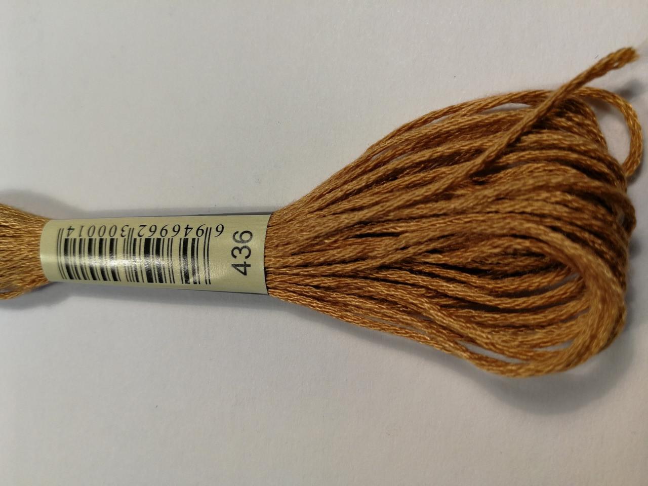 Мулине СХС 436 коричнево-желтый