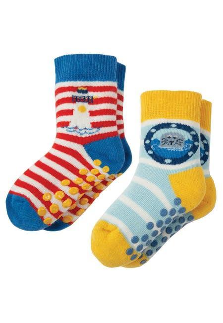 Носки детские морские Frugi,  Grippy 2 пары