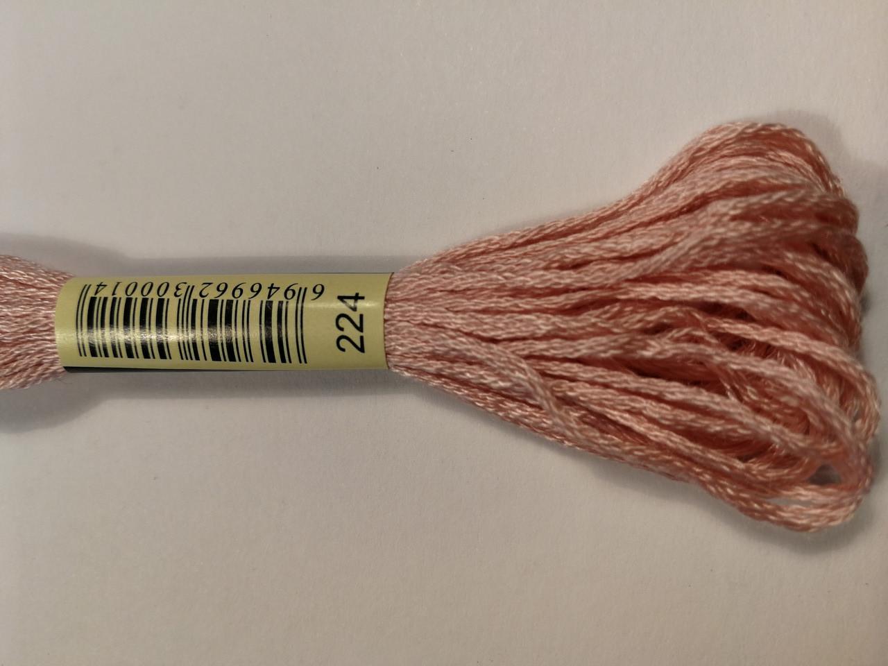 Мулине СХС 224 розовых ракушек оч светл