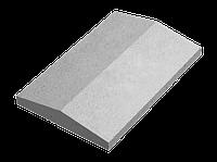 Крышка для заборов - двускатная, 600х390х75, серый, Авеню