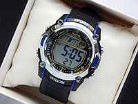 Водонепроницаемые спортивные наручные часы iTaiTek IT-813 - черные с синим, фото 1