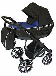 Детская коляска универсальная 2в1Broco Monaco dark blue(Броко Монако, Польша)