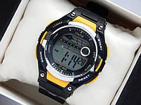 Водонепроницаемые спортивные наручные часы  iTaiTek IT-823 - черные с желтым, фото 1