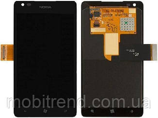 Дисплей Nokia 900 Lumia with touchscreen and frame black orig
