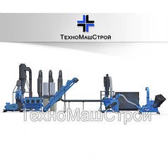 Линия Гранулирования МЛГ 1500 (COMBI). Мини завод для производства пеллет до 400 кг/час. Полный комплекс.