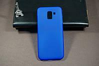 Чехол бампер силиконовый Samsung Galaxy J6 2018 SM J600 ( Самсунг ) цвет синий (Rock) Soft-touch