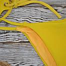 """Роздільний Купальник жіночий """"Бандо"""" жовтий, фото 2"""
