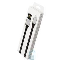 USB кабель Micro линейка 1m черный