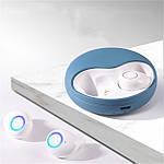 Наушники Wi-pods К10 беспроводные Bluetooth 5.0 блютуз-гарнитура с зарядным кейсом 500 мА*ч. Синие, фото 10