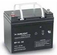 Герметичная свинцово-кислотная аккумуляторная батарея серии SPb тип SPb 12-33 SUNLIGHT (Греция).