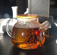 """Заварник для чая стеклянный с фильтром """"Стокгольм"""" 600 мл ( чайный заварник )"""