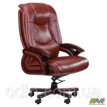 Кресло Ванкувер, кожа коричневая (625-B+PVC) 038673