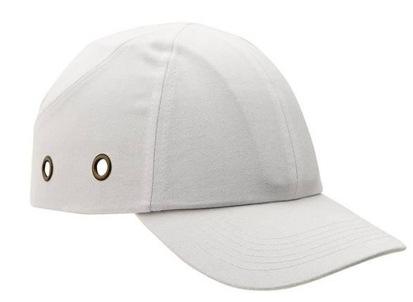 Каска - бейсболка (каскетка) защитная Duiker однотонная белая, фото 2