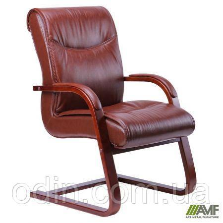 Кресло Монтана CF, кожа коричневая (619-D+PVC) 038671