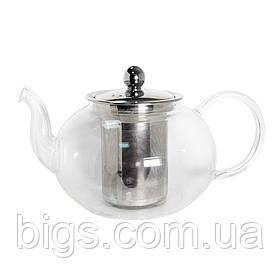 Чайник стеклянный с металлическим ситом Классика 1500 мл ( заварник )