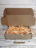 Коробка 300*150*100 мм крафт для подарка с персиковым наполнителем , для сувенира, для мыла, косметики