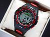 Водонепроницаемые спортивные наручные часы  iTaiTek IT-808 - черные с красным