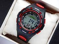 Водонепроницаемые спортивные наручные часы  iTaiTek IT-808 - черные с красным, фото 1