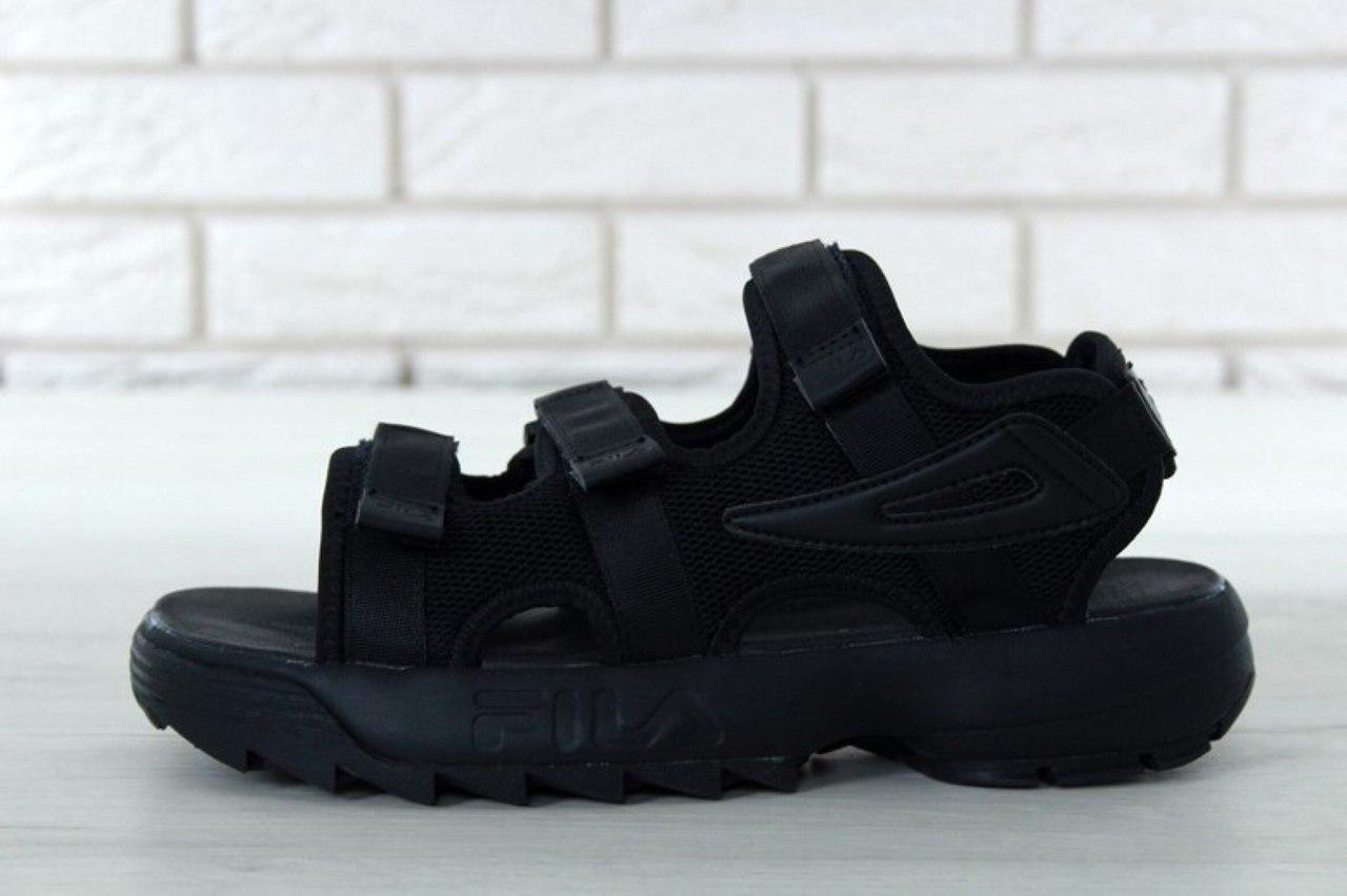 Мужские сандалии Fila (черные)