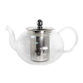 Чайник стеклянный с металлическим ситом Классика 800 мл ( заварник )