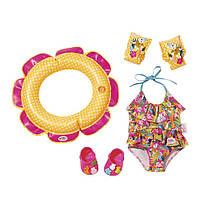 Одежда для кукол Беби Борн купальник с набором для плавания Baby Born Zapf Creation 825891