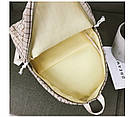 Рюкзак в клетку в наборе с пеналом бежевый SUQI (AV193), фото 4
