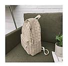 Рюкзак в клетку в наборе с пеналом бежевый SUQI (AV193), фото 6