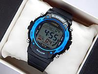 Водонепроницаемые спортивные наручные часы  Lasika W-F20 - черные с синим, фото 1