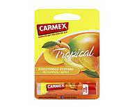 Лечебный бальзам-стик для губ Carmex Lip Balm Tropical Stick SPF 15, тропик