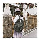 Рюкзак в клеточку набор 2в1 с пеналом черный., фото 3