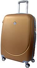 Дорожный чемодан на колесах Bonro Smile с двойными колесами Золотой Небольшой