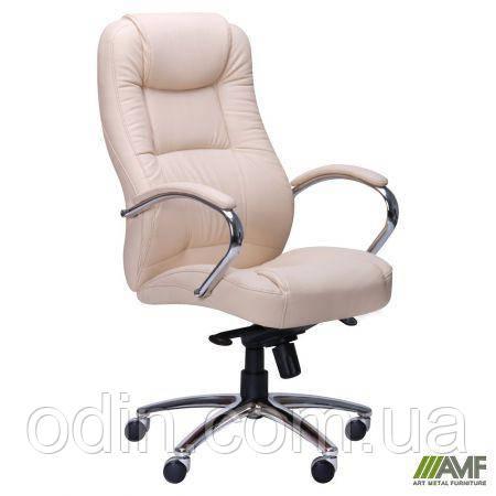 Кресло Мустанг MB Хром Неаполь N-17, вставка Неаполь N-17 перфорированный 263609
