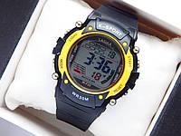 Водонепроникні спортивні наручний годинник Lasika W-F20 - чорні з жовтим, фото 1
