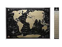 Скретч карта мира My Map Black edition Gold (английский язык) в раме