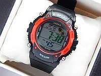 Водонепроницаемые спортивные наручные часы  Lasika W-F20 - черные с красным, фото 1