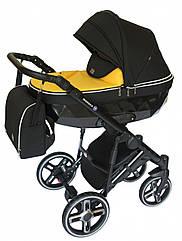 Детская коляска универсальная 2в1Broco Monaco yellow(Броко Монако, Польша)