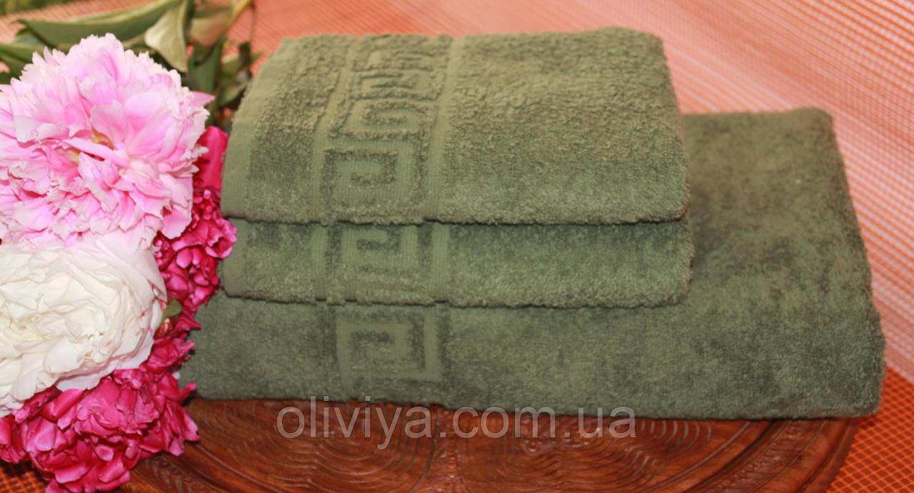 Набор полотенец т. зеленый