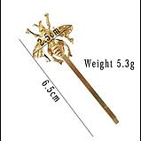 Невидимка для волос Пчела, 1 шт, фото 4