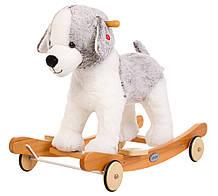 Детская плюшевая качалка-каталка Tobi Toys Собачка