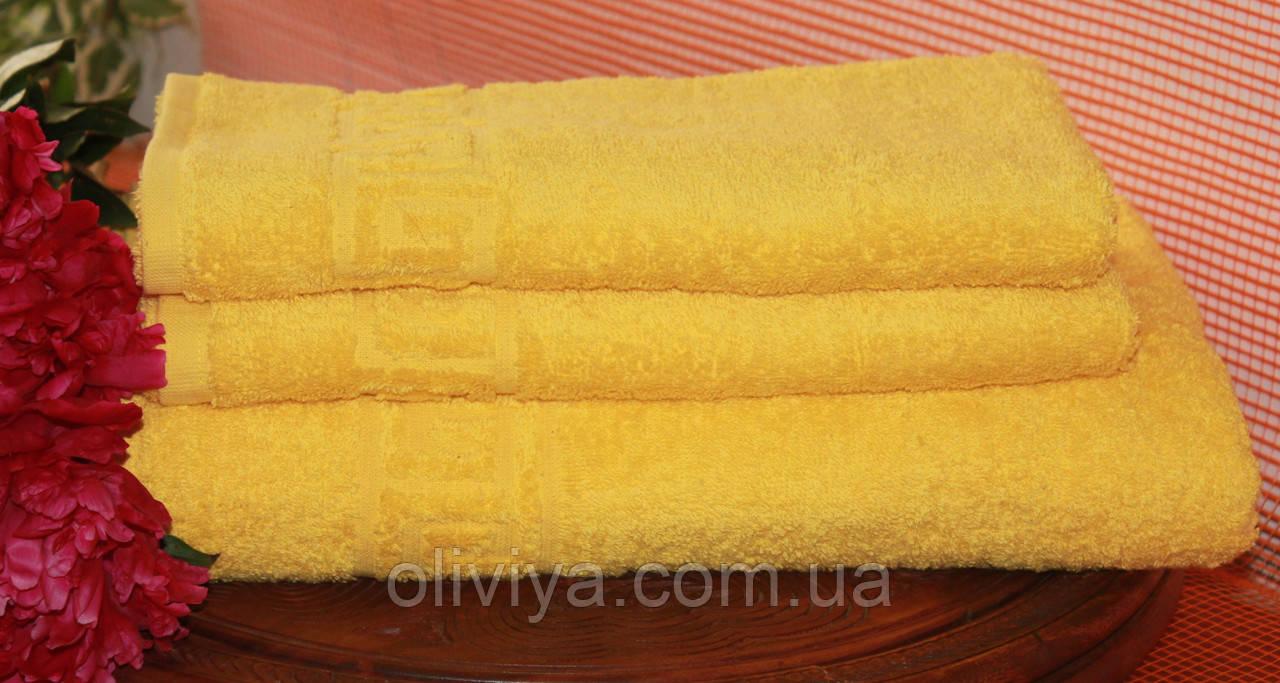 Набор полотенец желтый