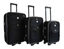 Набор чемоданов на колесах Bonro Style Черный 3 штуки