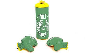 Боксерський набір дитячий (рукавички+мішок) SP-Planeta BO-4675-S (PVC, розмір S, мішок h-39див, d-14см, кольори в а
